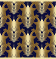 baroque gold seamless pattern floral vector image vector image