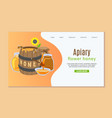 beekeeping and honey web template with honey vector image