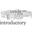 benefits of low introductory rates vector image vector image