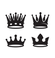 black crown icons vector image vector image