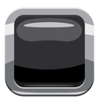 Black square button icon cartoon style vector image