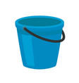 blue plastic bucket with a black handle isolated vector image vector image