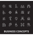 business concepts editable line icons set vector image vector image