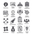 business management icons pack 44 vector image vector image