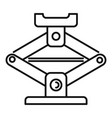 car jack-screw icon outline style vector image vector image