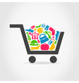 Clothes a cart vector image vector image
