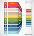 colorful infographic clean template vector image vector image