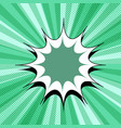 comic page green background vector image vector image