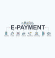 e-payment banner web icon for business vector image