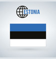 estonia flag isolated on modern background with vector image vector image