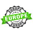 europe round ribbon seal vector image