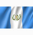 flag guatemala realistic icon vector image vector image