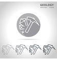 Geology outline icon vector image vector image