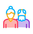 grandparents icon outline vector image vector image