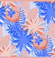 graphic seamless pattern exotic leaves in vector image