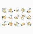 hand washing icons set vector image vector image