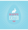 Happy Easter Blue Poster vector image vector image