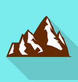 hight mountain icon flat style vector image vector image