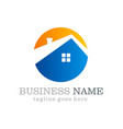 home roof icon business logo vector image vector image