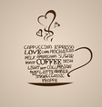 Isolated icon of coffee cup vector image vector image