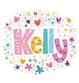 Kelly female name decorative lettering type design vector image vector image