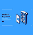 landing page nfc technology mobile payment vector image vector image