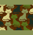 military texture cat army kitten seamless texture vector image