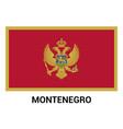 montenegro flag design vector image