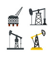 petrol extract icon set flat style vector image vector image