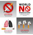 public no smoking banner set realistic style vector image