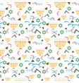 purim holiday background with festive symbols vector image vector image