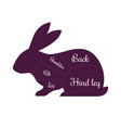 rabbit meat cuts butcher icon vector image vector image