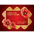 Red and Gold Vintage Frame vector image vector image