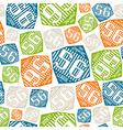 Seamless pattern sport league emblem color vector image