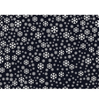 Seamless pattern with snowflakes Christmas pattern vector image