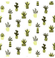 seamless pattern with succulents vector image vector image