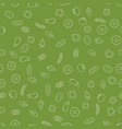 simple vegetables icon seamless pattern vector image vector image
