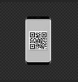 smartphone with qr code icon vector image