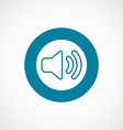 sound icon bold blue circle border vector image vector image