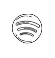 spotify icon doodle hand drawn or black outline vector image