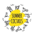 Summer coctails on white background vector image vector image