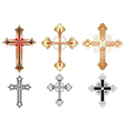 three gold cross vector image