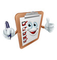 thumbs up survey man and pen vector image vector image