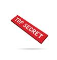 top secret label vector image