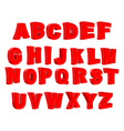Toy letter Red alphabet Cartoon children ABC vector image