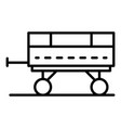 tractor trailer icon outline style vector image vector image