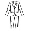 tuxedo icon doddle hand drawn or black outline vector image