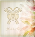 Vintage floral butterfly background vector image vector image