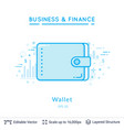 wallet symbol on white vector image vector image