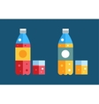 Water soda and juice or tea bottles vector image vector image